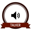 """Badge icon """"Speaker (5609)"""" provided by Naomi Atkinson, from The Noun Project under Creative Commons - Attribution (CC BY 3.0)"""
